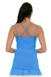Sofibella Women's Triumph Long and Lean Sky Blue Cami Tennis Tank