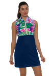 Allie Burke Exotic Floral Navy Golf Dress