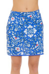 EP Pro NY Women's Ikat Jacobean Print Pull On Golf Skort