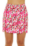 EP Pro NY Women's Poppy Fields Blur Floral Print Pull On Golf Skort