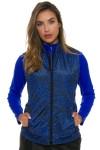 Greg Norman Women's Animal Instincts Quilted Reversible Vest | Golf Wear 1