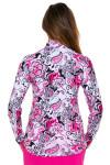 SanSoleil Women's UPF SolCool Pink Paisley Mock Sun Shirt SANS-900463-PBPGR Image 6
