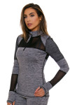 TLF Women's Bardot Graphite Heather Long Sleeve