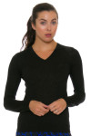 Greg Norman Women's V-Neck Lurex Sweater GN-G2F7S752 Image 1