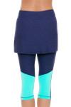 Sofibella Women's Nautical Navy Abaza Tennis Skirt Leggings   Tennis Wear 5