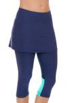 Sofibella Women's Nautical Navy Abaza Tennis Skirt Leggings   Tennis Wear 3