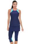Sofibella Women's Nautical Navy Abaza Tennis Skirt Leggings   Tennis Wear 1