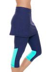 Sofibella Women's Nautical Navy Abaza Tennis Skirt Leggings   Tennis Wear 4