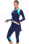 Sofibella Women's Nautical Navy Abaza Tennis Skirt Leggings   Tennis Wear 6