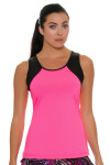 Sofibella Women's Dark Night Full Back Pink Athletic Tennis Tank | Tennis Wear 1