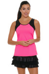 Sofibella Women's Dark Night Full Back Pink Athletic Tennis Tank | Tennis Wear 4