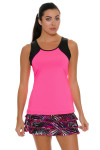 Sofibella Women's Dark Night Full Back Pink Athletic Tennis Tank | Tennis Wear 5