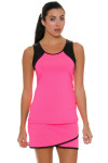 Sofibella Women's Dark Night Full Back Pink Athletic Tennis Tank | Tennis Wear 6