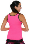 Sofibella Women's Dark Night Full Back Pink Athletic Tennis Tank | Tennis Wear 3