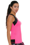 Sofibella Women's Dark Night Full Back Pink Athletic Tennis Tank | Tennis Wear 2