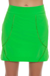 EP Sport Womens Coachella Green Indie Pull On Golf Skort -Outta Lime