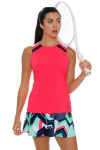 Fila Women's Heritage Full Coverage Diva Pink Tennis Tank