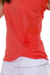 Lucky in Love Do the Twist Core Top in Flame Orange