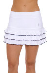 "Sofibella Women's Nautical Navy Ruffled Hem 13"" Tennis Skirt"