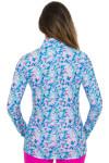 EP Pro NY Women's Basics Abstract Marble Print Golf Long Sleeve Shirt