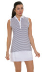 Annika Women's Eclipse Melange Stripe Golf Sleeveless Shirt