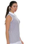 Annika Women's Eclipse Melange Stripe Golf Sleeveless Shirt