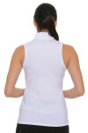 Lucky In Love Women's Core Chi Chi White Golf Sleeveless Shirt (LIL-GT08-110)