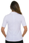 Lucky In Love Women's Core Le Snap Half Sleeve White Golf Polo