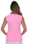 Annika Women's Into the Wild Lush Golf Sleeveless Polo Shirt AK-LAK00008 Image 3