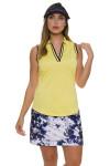 EP Pro NY Women's Spectator Sport Daisy Crossover Placket Golf Sleeveless Shirt