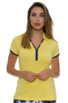 EP Pro NY Women's Spectator Sport Contrast Trim Golf Cap Sleeve Polo
