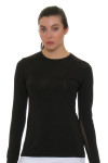 Lucky in Love Core SPF Crew Black Long Sleeve