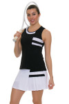 Tonic Active Women's Imperial Black Niroh Tennis Tank TO-2220-118-Black Image 4