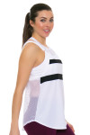 Tonic Active Women's Imperial White Muto Workout Tank TO-2225-118-White Image 3