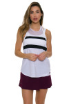 Tonic Active Women's Imperial White Muto Workout Tank TO-2225-118-White Image 4