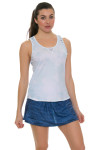 Lucky In Love Women's American Love Story Shore Acid Twist Racer Tennis Tank