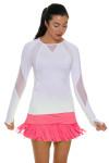 Lucky In Love Women's Long Fringe Scallop Lava Tennis Skirt LIL-CB183-820 Image 1