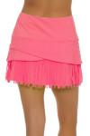 Lucky In Love Women's Long Fringe Scallop Lava Tennis Skirt LIL-CB183-820 Image 5