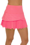Lucky In Love Women's Long Fringe Scallop Lava Tennis Skirt LIL-CB183-820 Image 3
