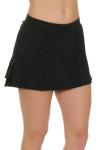 Gemmeo Women's Ruffle Mesh Black Tennis Skirt GEM-Gem101-BLK Image 2