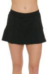 Gemmeo Women's Ruffle Mesh Black Tennis Skirt GEM-Gem101-BLK Image 3