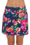 Allie Burke Polka Floral Print Pull On Golf Skort AB-BSKG01-POF Image 2