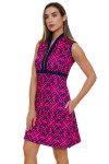 Allie Burke Geo Navy Pink Tile Print Golf Dress