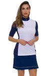 EP Pro NY Women's Graphic Jam Convertible Zip Mock Golf Polo EPNY-5312NCAX Image 7