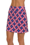 Allie Burke American Basket Weave Pull On Golf Skort AB-BSKG01-ABW Image 3