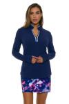 EP Pro NY Women's Luxor Split Mock Neck Golf Long Sleeve Top EPNY-5330NCC Image 5