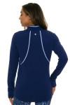 EP Pro NY Women's Luxor Split Mock Neck Golf Long Sleeve Top EPNY-5330NCC Image 2