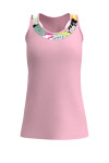 Allie Burke Women's Light Pink Japanese Garden U-Neck Tennis Tank AB-TT01-LPJ