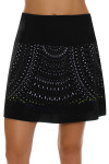 Lucky In Love Women's Laser Cut Medallion Pull On Golf Skort LIL-GB24-485001 Image 2