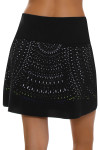 Lucky In Love Women's Laser Cut Medallion Pull On Golf Skort LIL-GB24-485001 Image 5